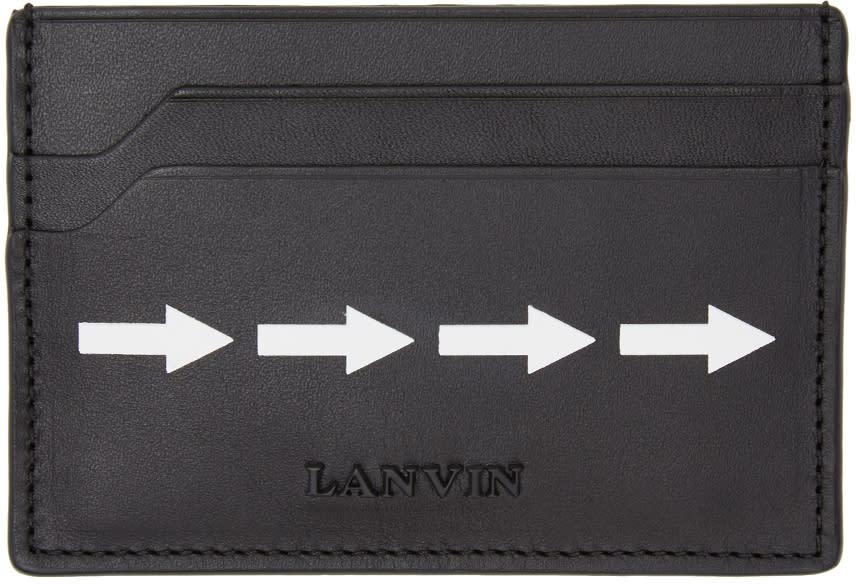 Image of Lanvin Black Arrow Card Holder