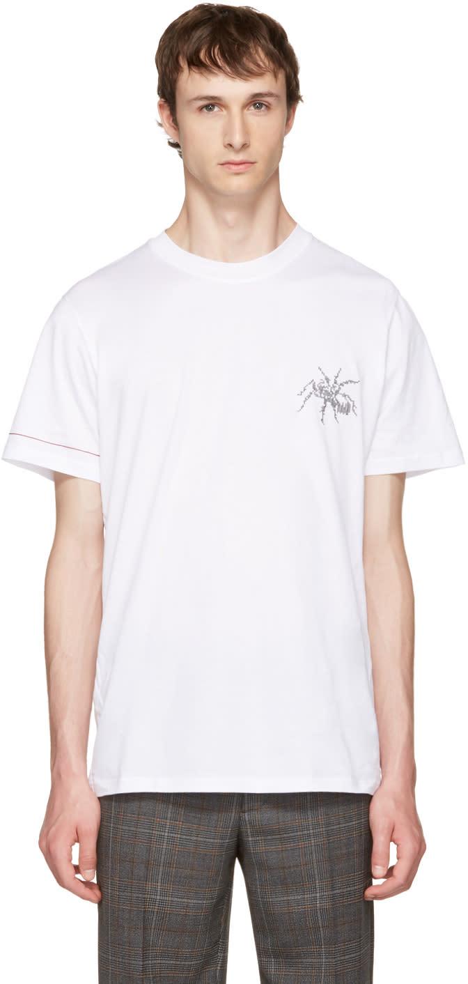 Lanvin ホワイト スパイダー T シャツ