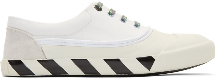 Lanvin White Canvas Oxford Sneakers