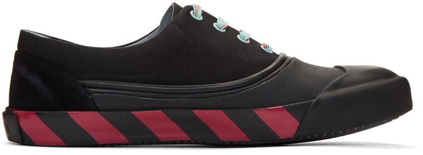 Lanvin Black Canvas Oxford Sneakers