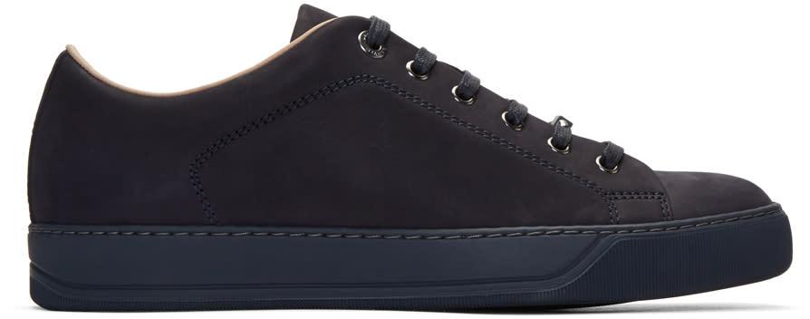 Lanvin Navy Nubuck Sneakers
