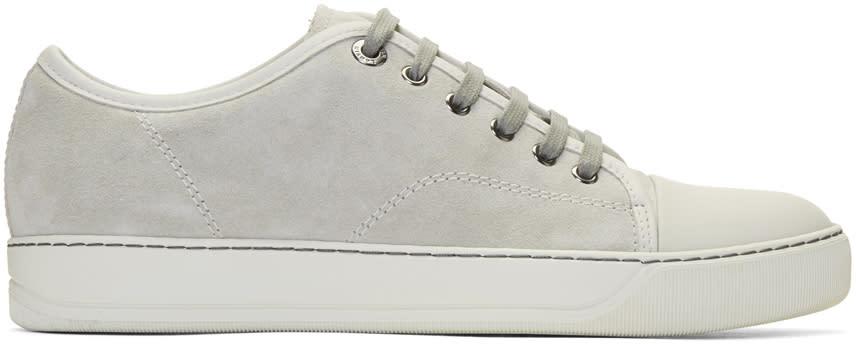 Lanvin Grey Suede Cap Toe Sneakers