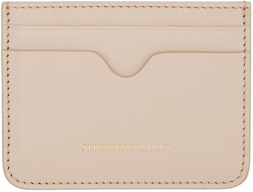 Alexander Mcqueen Pink Leather Card Holder