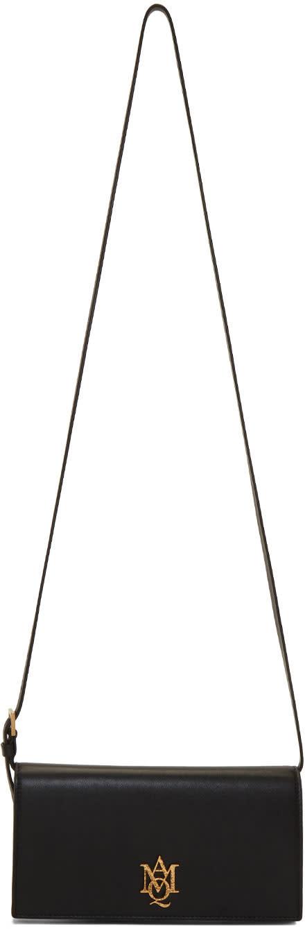 Alexander Mcqueen Black Insignia Pouch Bag