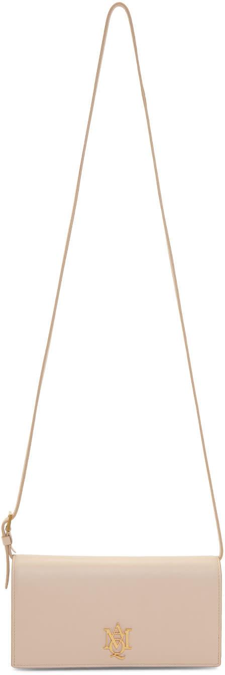 Alexander Mcqueen Pink Insignia Pouch Bag