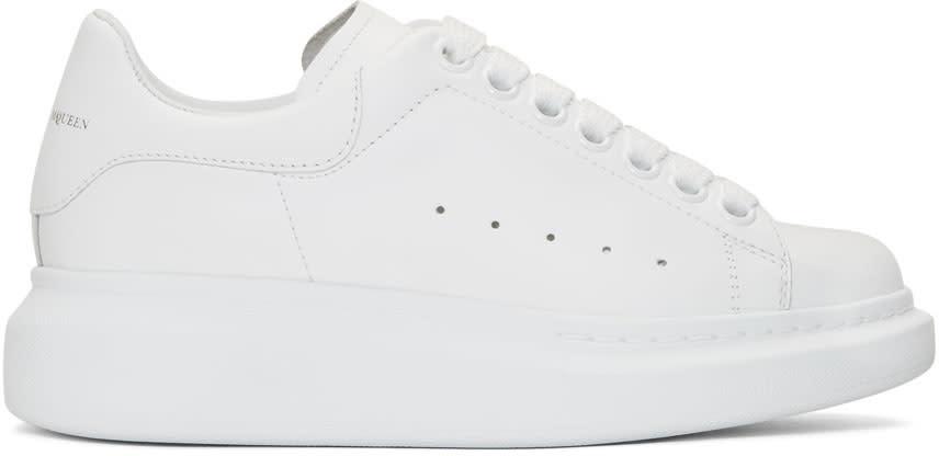 Alexander Mcqueen Ssense Exclusive White Oversized Sneakers