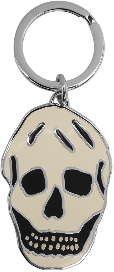 Alexander Mcqueen White Skull Keychain