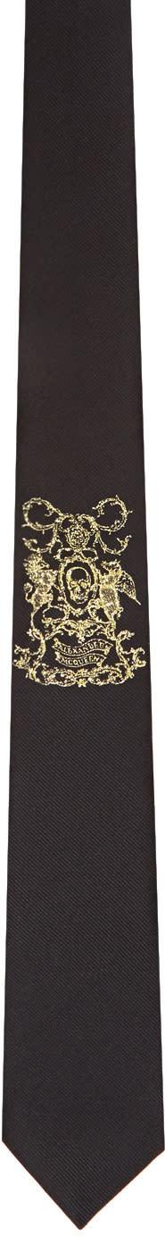 Alexander Mcqueen Black coat Of Arms Tie