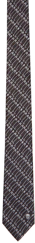 Alexander Mcqueen Black Punk Pin Tie