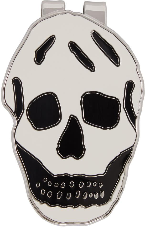 Alexander Mcqueen White Skull Money Clip