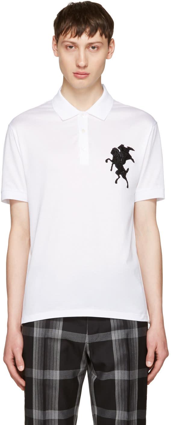 Alexander Mcqueen White Classic Pique Polo