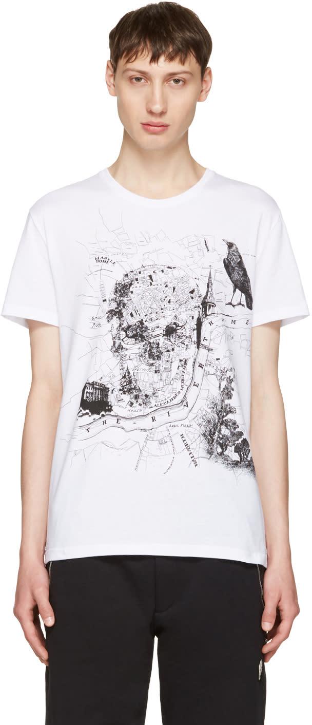 Alexander Mcqueen White London Map T-shirt