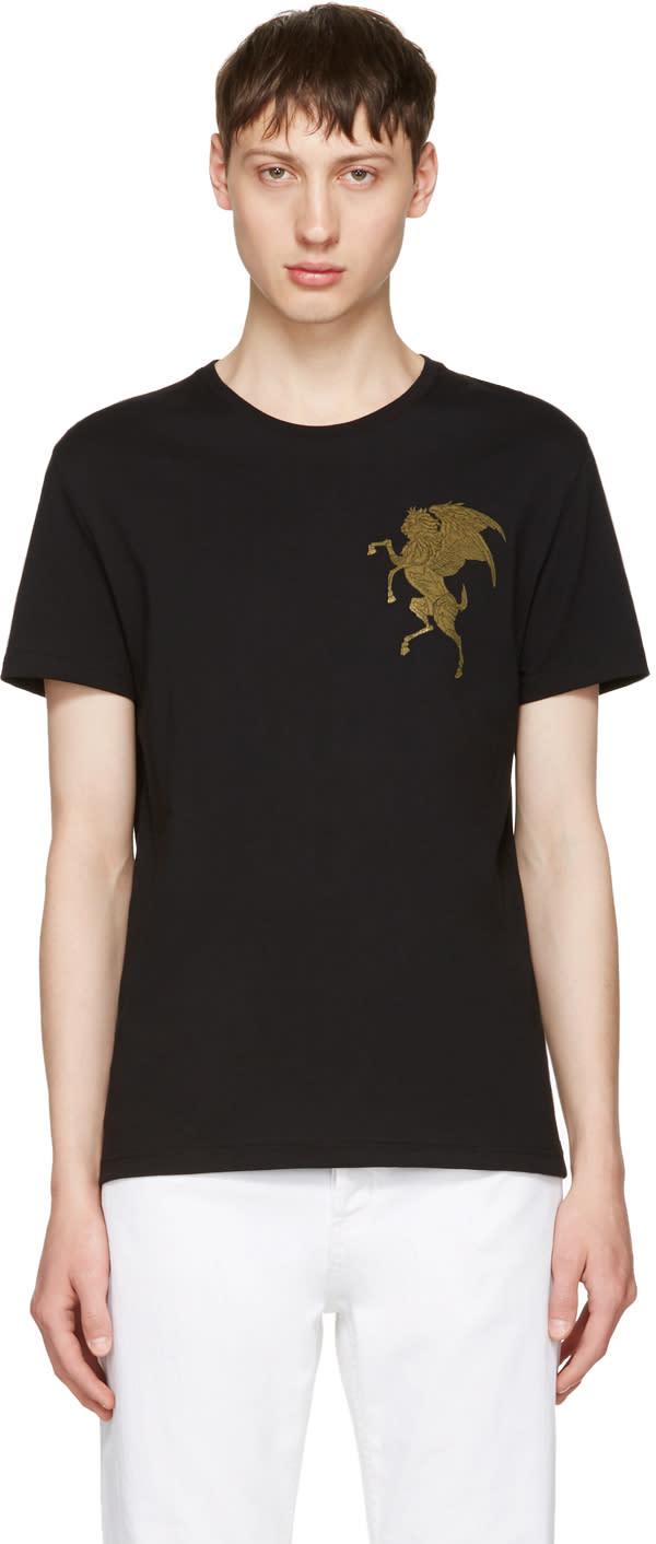 Alexander Mcqueen Black coat Of Arms T-shirt