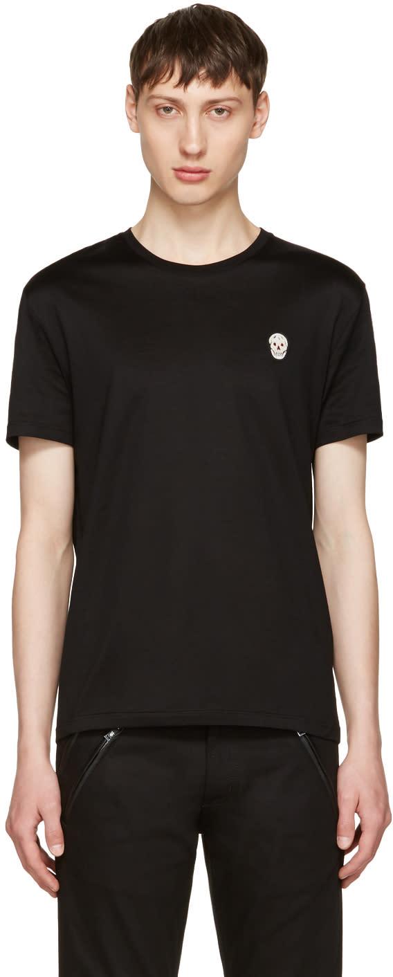Alexander Mcqueen Black Bullion Skull Patch T-shirt