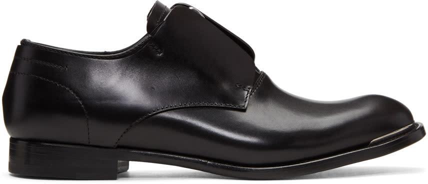 Alexander Mcqueen Black Zip Oxfords