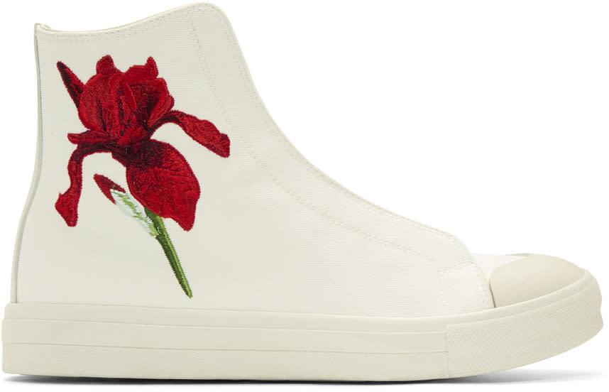 Alexander Mcqueen Off-white Iris High-top Sneakers