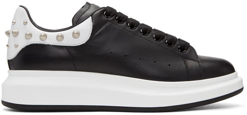 Alexander Mcqueen Black Studded Oversized Sneakers