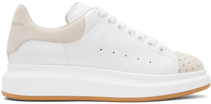 Alexander Mcqueen White and Beige Oversized Sneakers