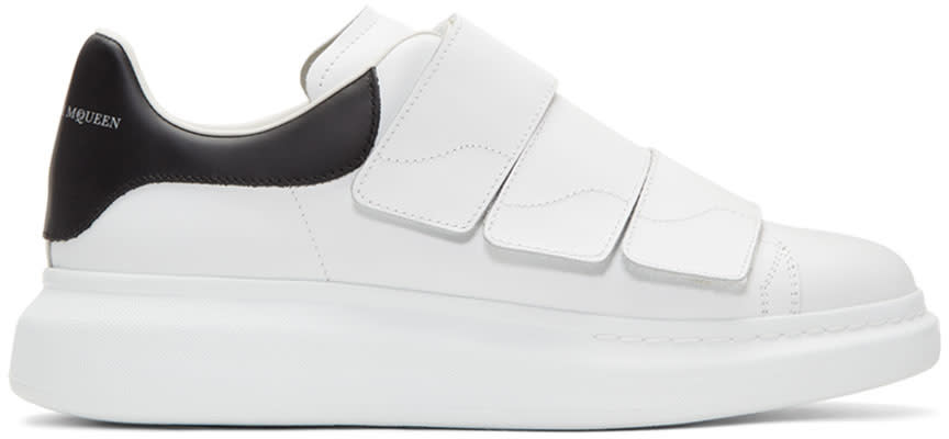 Alexander Mcqueen White and Black Straps Oversized Sneakers