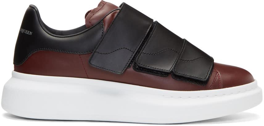 a59123d7dc74 Alexander Mcqueen Burgundy Oversized Strap Sneakers