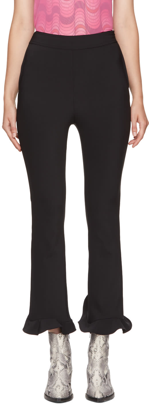 Image of Opening Ceremony Black Circle Hem Trousers