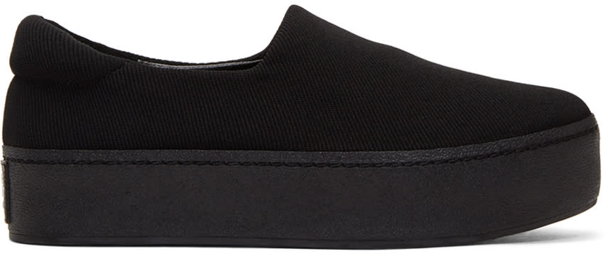 Image of Opening Ceremony Black Cici Platform Slip-on Sneakers