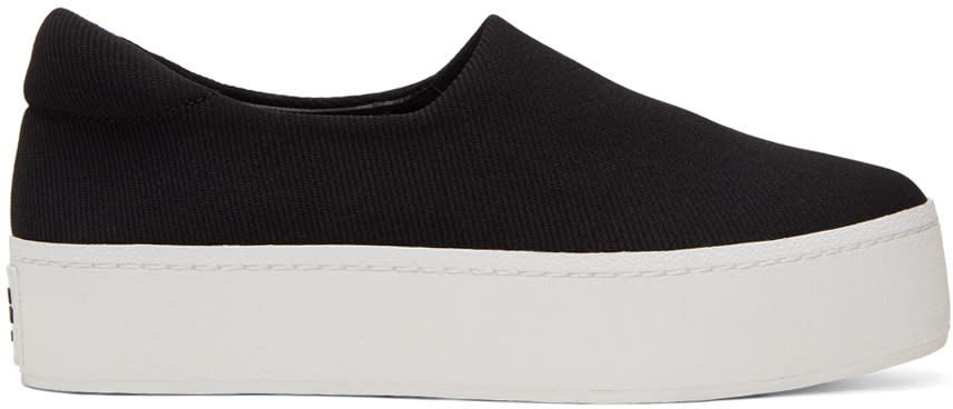 Image of Opening Ceremony Black and White Cici Platform Slip-on Sneakers