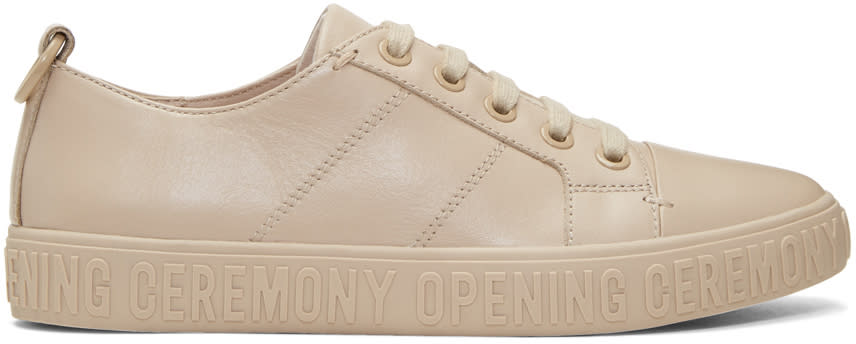 Image of Opening Ceremony Beige Mina Sneakers