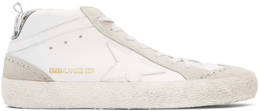 Golden Goose White Anniversary Limited Edition Mid Star Sneakers