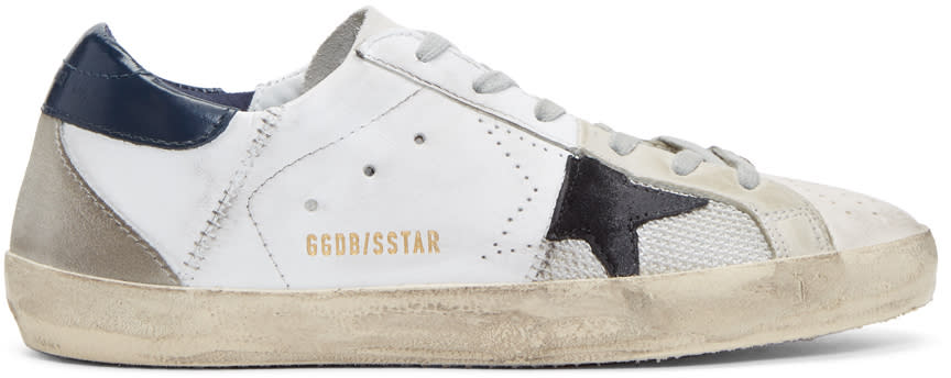 Golden Goose White Trilogy Superstar Sneakers