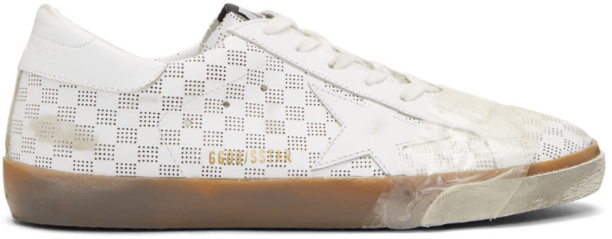 Golden Goose White Tape Spot Skate Superstar Sneakers