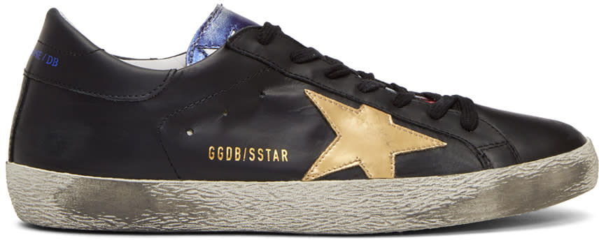 Image of Golden Goose Black and Multicolor Superstar Sneakers