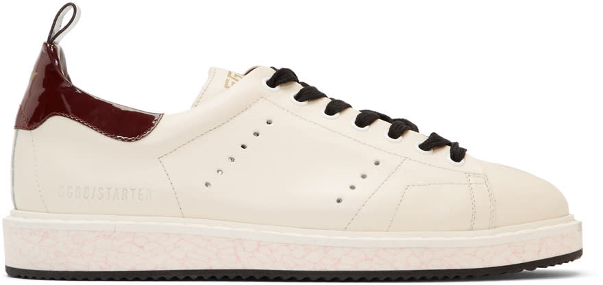 Golden Goose Off-white and Brown Starter Sneakers