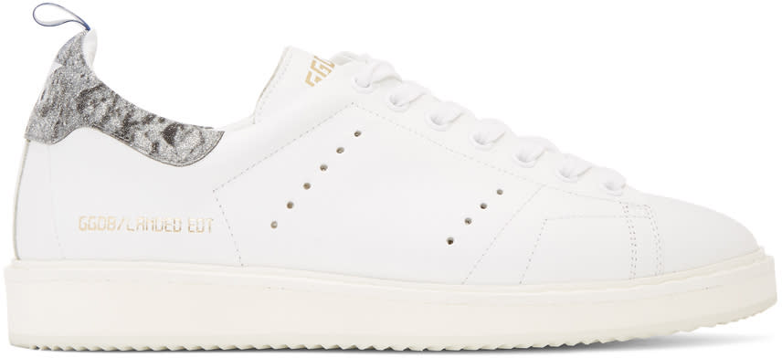 Golden Goose White Anniversary Limited Edition Starter Sneakers