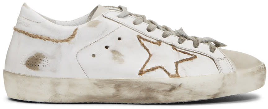 Golden Goose White Skate Superstar Sneakers