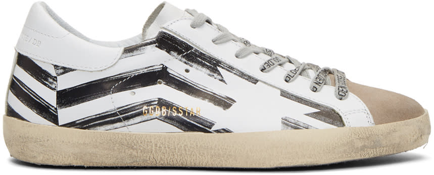 Golden Goose White Flag Superstar Sneakers