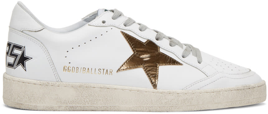 Golden Goose White Ball Star Sneakers