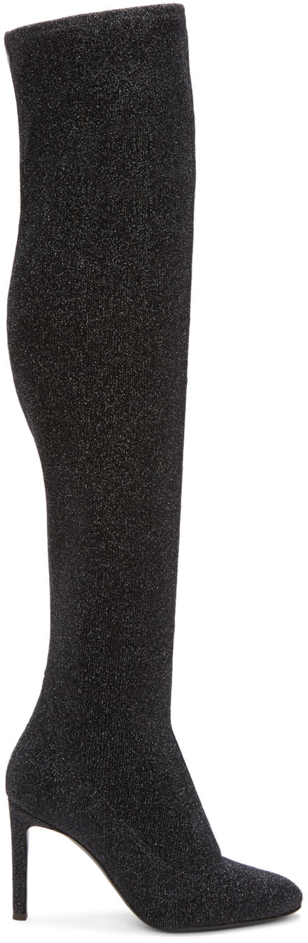Giuseppe Zanotti Black Stretch Lurex Over-the-knee Boots