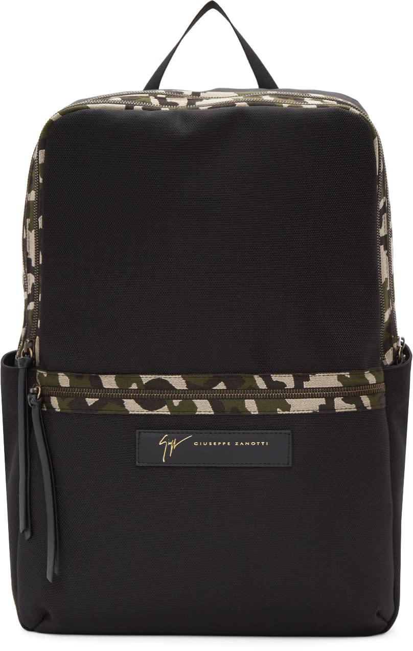 Image of Giuseppe Zanotti Black Camo Backpack