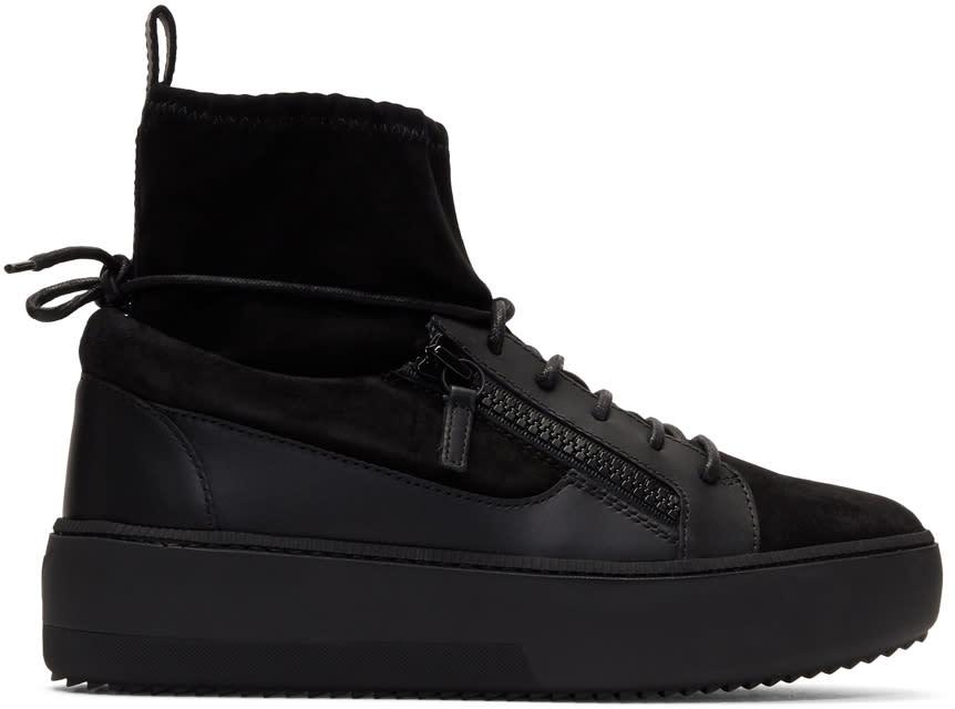 Giuseppe Zanotti Black Zola High-top Sneakers
