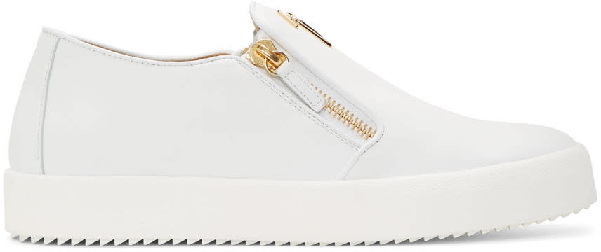 Giuseppe Zanotti White May London Slip-on Sneakers