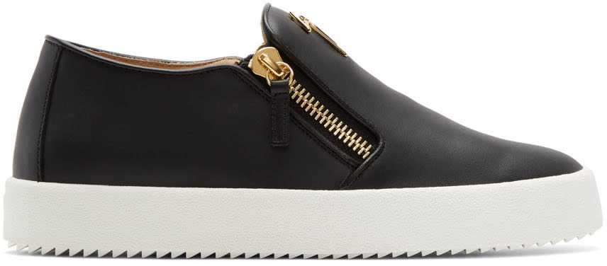 Giuseppe Zanotti Black May London Slip-on Sneakers