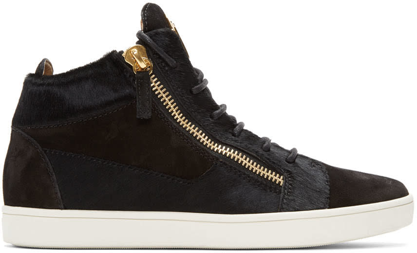 Giuseppe Zanotti Black Suede Brek High-top Sneakers