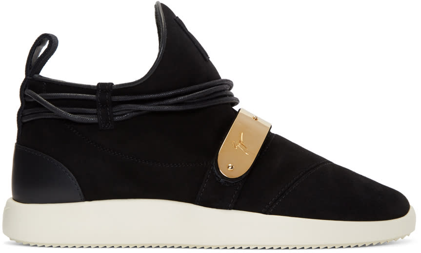 Giuseppe Zanotti Black Suede Singleg Sneakers
