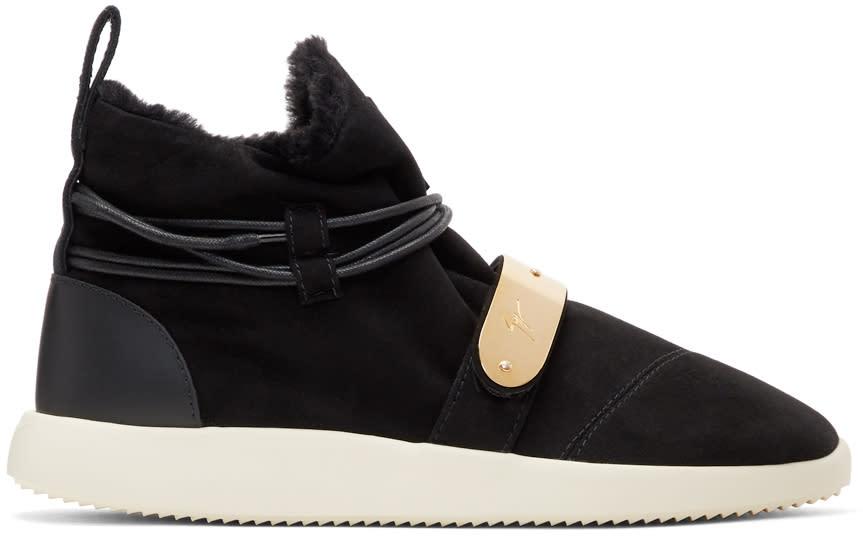 Giuseppe Zanotti Black Suede Hayden Winter High-top Sneakers