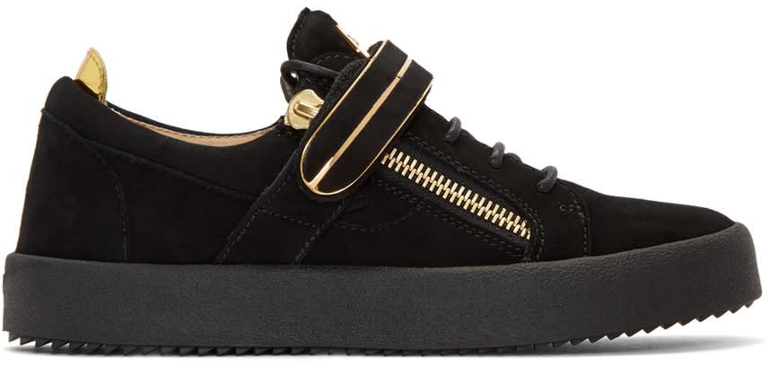 Giuseppe Zanotti Black Suede May London Sneakers