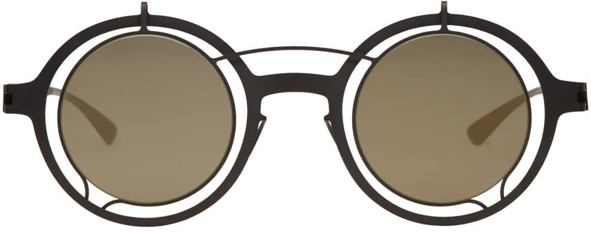 Image of Damir Doma Black Mykita Edition Madeleine Sunglasses