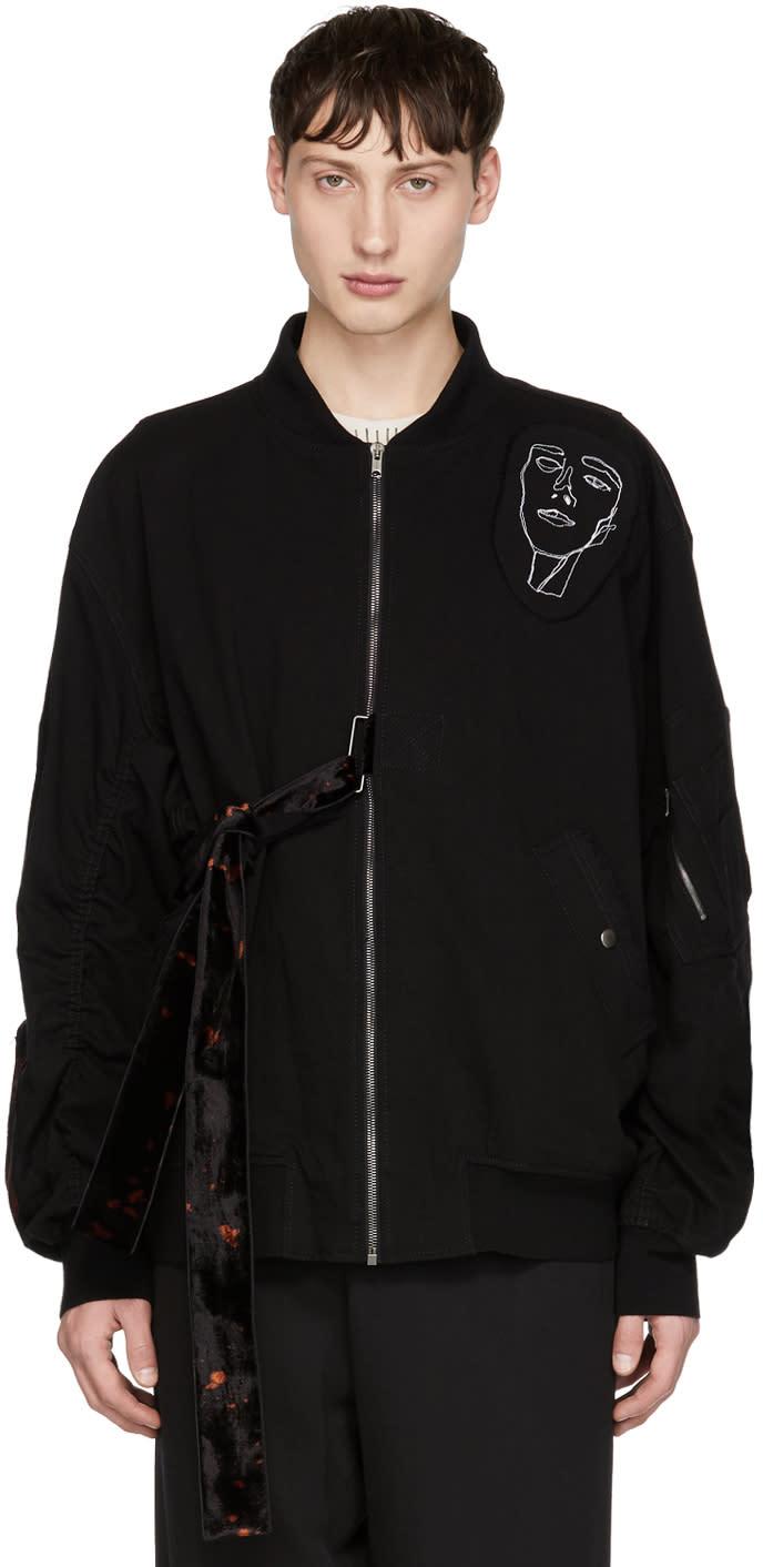 Image of Damir Doma Black Jino Bomber Jacket
