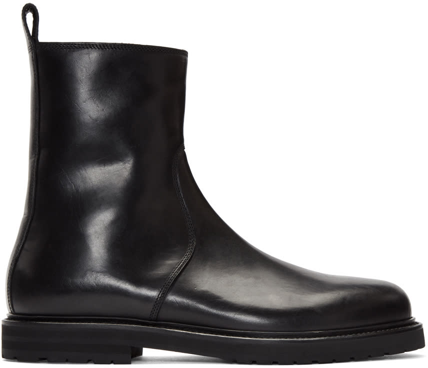 Image of Damir Doma Black Fries Boots