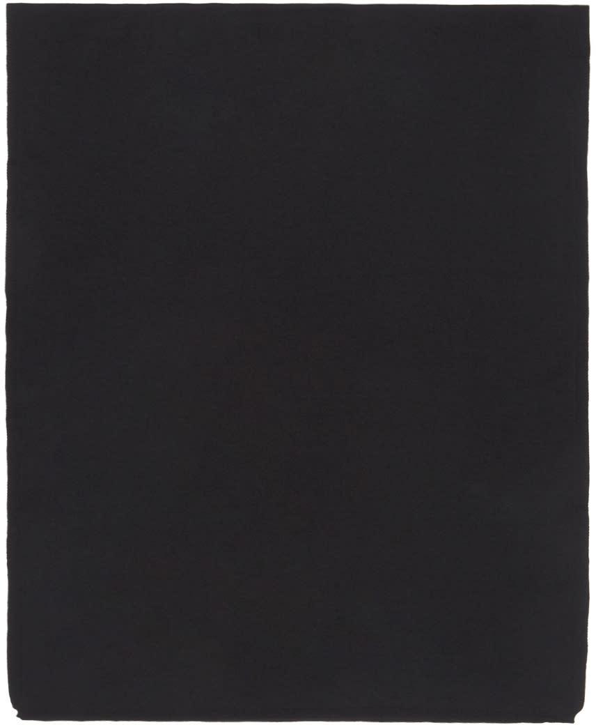 Image of Comme Des Garçons Shirt Black Knit Gauge Scarf